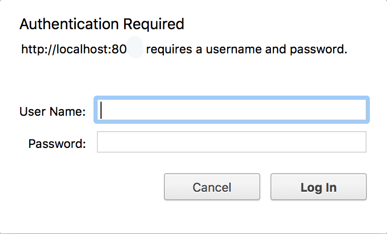 Invite de mot de passe Apache2